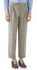 Gucci Prince of Wales Cuff Crop Cotton Pants