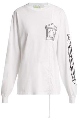 Hillier Bartley - X Aries Long Sleeve Cotton T Shirt - Womens - White