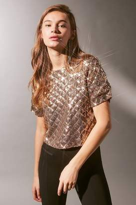 Urban Outfitters Quilted Sequin Tee