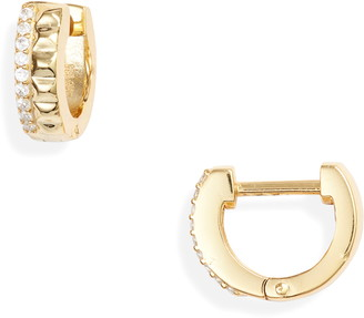 Stella and Bow Ludwig Cubic Zirconia Huggie Earrings