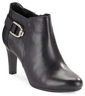 Bandolino Layita Leather Ankle Booties $89 thestylecure.com