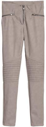 H&M Biker Leggings - Brown