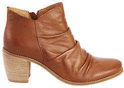 EOS NEW Womens Boots Court Leather Ankle Boot Brandy