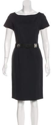 Alberta Ferretti Short Sleeve Knee-Length Dress