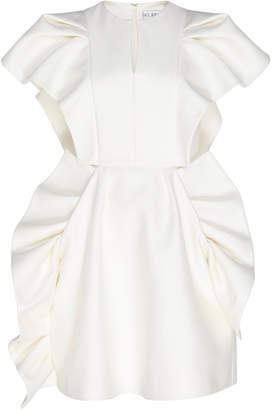 Dice Kayek Ruffle Structured Mini Dress
