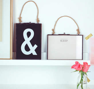 The Luxe Co Set Of Two Industrial Hanging Rope Picture Frames