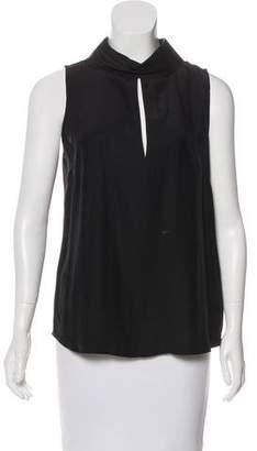 Frame Sleeveless Silk Top