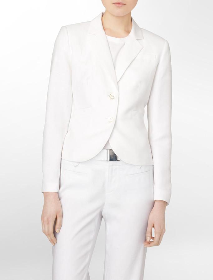 Linen 2-Gold Button Suit Jacket