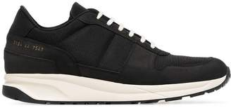 Common Projects Black Track Vintage leather and suede sneakers