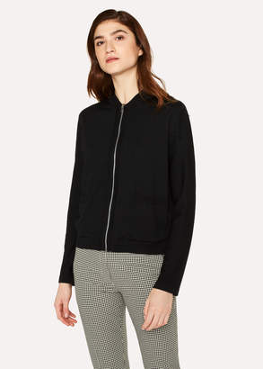 Paul Smith Women's Black Reversible 'Enso Floral' Wool Cardigan