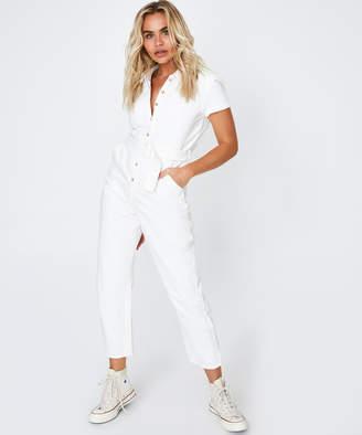 Subtitled Lissy Boilersuit White