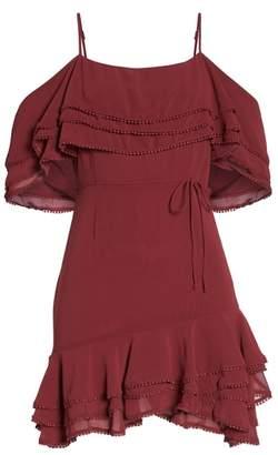 BB Dakota Up All Night Layered Cold Shoulder Dress