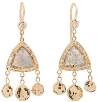 Jacquie Aiche Diamond, Labradorite & Yellow Gold Earrings - Womens - Grey