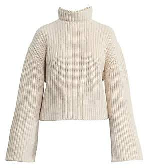 Loewe Women's Cropped Cashmere Embellished Open-Back Sweater