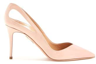 Aquazzura Shiva 85 Patent Leather Pumps - Womens - Nude