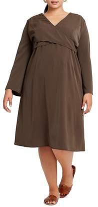 ELVI Chasse Crossover Bodice Dress
