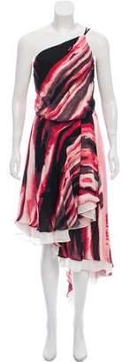 Halston Asymmetrical Silk Dress w/ Tags