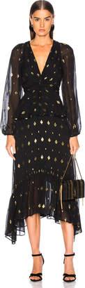 A.L.C. Diamond Filco Stanwyck Dress in Black & Gold | FWRD