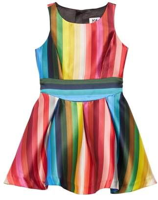 Milly Rainbow Fit & Flare Dress