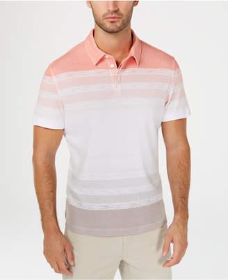 Alfani Men's Regular-Fit Ombre Stripe Polo