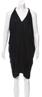Zero Maria Cornejo Draped V-Neck Dress