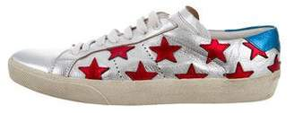 Saint Laurent Metallic Star Sneakers