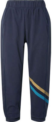 LNDR - Cool Down Cropped Striped Jersey Track Pants - Navy