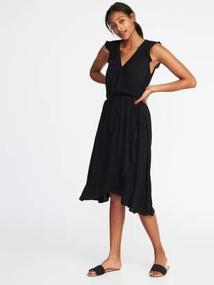Old Navy Sleeveless Waist-Defined Crinkle-Gauze Dress for Women