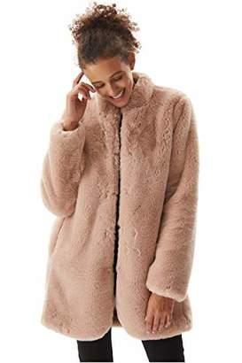 Molemsx Women's Warm Winter Fashion Long Sleeve Parka Faux Fur Coat Overcoat Fluffy Top Jacket Coat