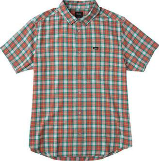 RVCA Men's Thatll Do Plaid 3 Short Sleeve Woven Shirt
