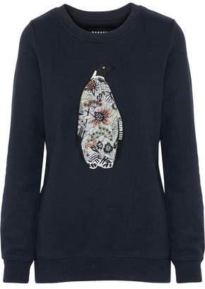 Markus Lupfer Anna Appliquéd Cotton-Fleece Sweatshirt