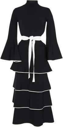 Proenza Schouler Tiered Ruffle Knit Dress