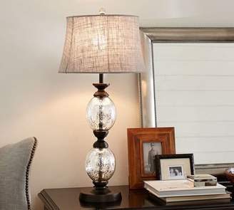 f2c4ea0c13b0 Pottery Barn Stacked Mercury Glass Table Lamp
