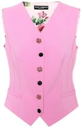 Dolce & Gabbana Printed wool-blend vest