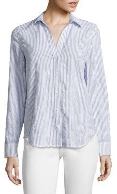 Vineyard Vines Striped Linen & Cotton Shirt $118 thestylecure.com