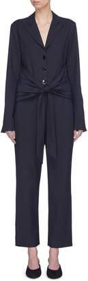 Victoria Beckham VICTORIA, Tie front notched lapel jumpsuit