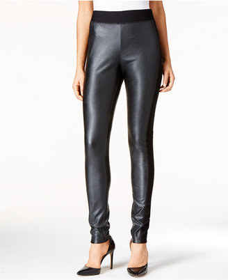 INC International Concepts Faux-Leather Curvy Leggings, Only at Macy's $69.50 thestylecure.com