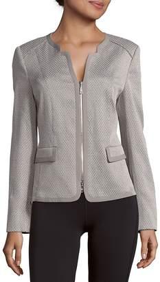 Basler Women's Patterned Cotton-Blend Zip-Front Jacket