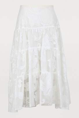 See by Chloe Lace midi-skirt