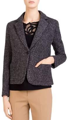 Gerard Darel Stacey Single-Button Knit Blazer