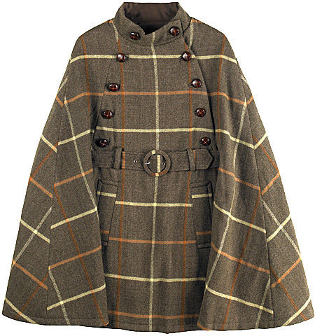 A.P.C. Belted Plaid Cape