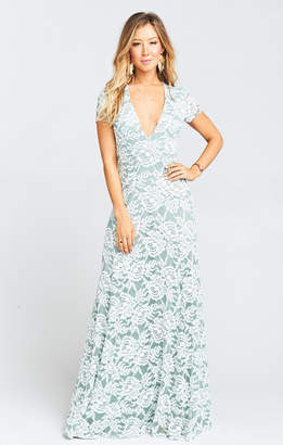 Show Me Your Mumu Eleanor Maxi Dress ~ Lovers Lace Silver Sage