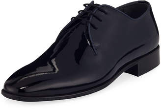 Maceoo Men's Class Patent Leather Lace-Up Shoes