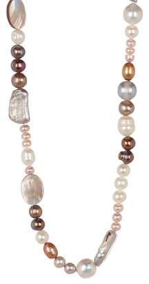 Stephen Dweck Sterling Silver Mixed Pearl & MOP Necklace