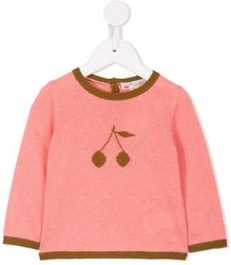 Bonpoint cherry knitted jumper