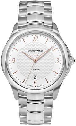 Emporio Armani Swiss Men's Automatic Esedra Stainless Steel Bracelet Watch 43mm