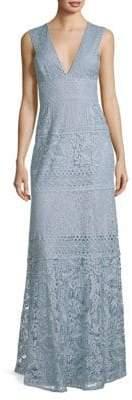 BCBGMAXAZRIA Evening Lace Knit Gown