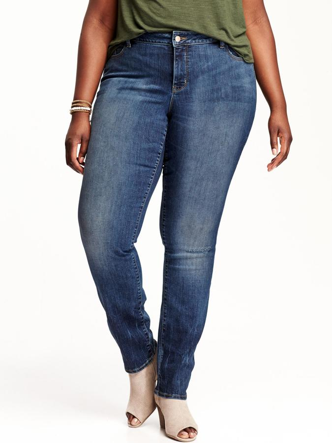 Old Navy Women's Plus Smooth & Slim Mid-Rise Skinny Jeans