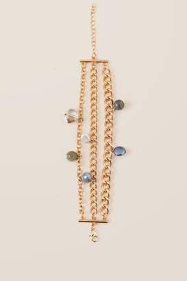francesca's Juni Pearl Chain Bracelet - Gold