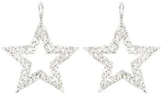 Saint Laurent Smoking Star crystal earrings
